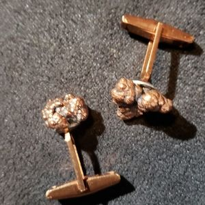 Copper Nugget Cuff Links